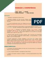 01. Jurisdição e Competência - 2014