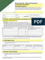 Dependent Verification Worksheet VD1