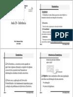 Estatistica-Aula20 Inferencia Estatistica