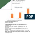 Aspectos Demograficos, Sociales y Economicos de Laredo