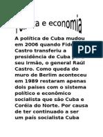 Cuba Politiccccccccccca Economica e Turismo e Cultura