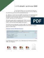 TIA Portal v13 Añadir Archivos GSD Profibus