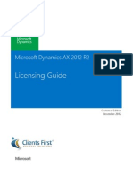 Microsoft Dynamics AX 2012 R2 Licensing Guide-Customer EditionDec2012 CFBS