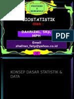 Statistik Konsep Dasar Statistik & Data