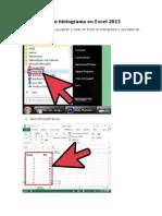 Cómo Crear Un Histograma en Excel 2013