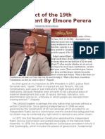 The Impact of the 19th Amendment by Elmore Perera