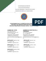 MODELO DE PROYECTO DE SERVICIO COMUNITARIO
