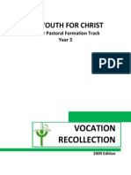 Yr 3 Yfc Vocation Recollection (2009 Edition)