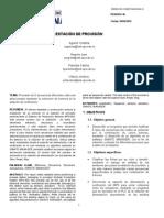 Informe Provision