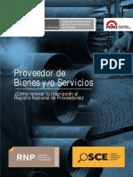 Bienes y Servicios - Renovación