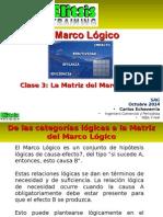 Clase 3 La Matriz Del Marco Lógico Enfoque de Marco Lógico