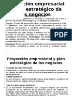 Proyección Empresarial y Plan Estratégico de Los Negocios