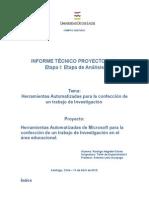 Informe Tecnico Etapa I - Herramientas Automatizadas