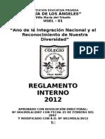 Reglamento Interno Del Colegio-2012