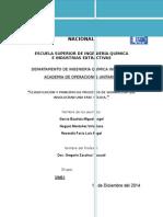 CLASIFICACIÓN Y PRINCIPIO DE PROCESOS DE SEPARACIÓN QUE INVOLUCRAN UNA FASE SÓLIDA