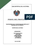 Mejoramiento de La Transitabilidad Vehicular y Peatonal en La Av. México