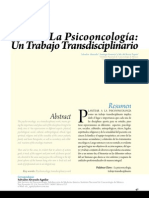 Transdisciplinariedad psicooncologica