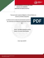 La influencia de los medios de comunicación colectiva en la formación de las comisiones de investigación parlamentaria durante el período 2001- 2011