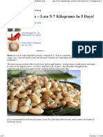 Diet With Beans - Lose 5-7 Kilograms in 5 Days! _ Shakahari Tips