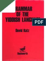 Dovid Katz 2 1987 Grammar Yiddish