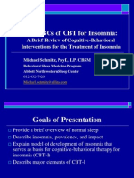 CBT for Insomnia