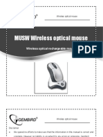 Gembird MUSWC Wireless optical mouse - user manual