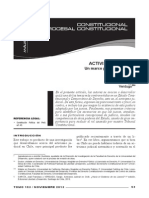 Activismo judicial. Un marco para la discusion