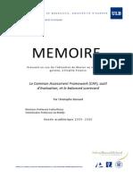 Mémoire CAFBSC Christophe Bernard