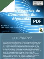 Tabla de Valores de Iluminación de Alemania