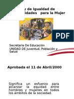 Presentacion 7 Ley de igualdad dee oportunidades Capacitación 2013 v2.ppt
