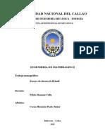 Laboratorio Materiales II - Dureza de Brinell