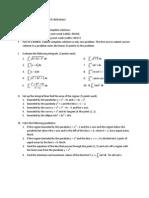 Math 5 Problem Set on Definite Integrals