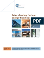 Solar Shading for Low Energy Buildings
