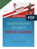 Medalla de Ingeniería del Colegio de Ingenieros del Perú