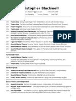 theatre resume june 11 2015