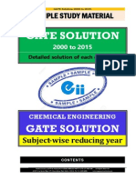 GATE Chemical Engineering Solution 2000-2015