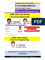 GATE PSU Study Material Chemical Reaction Engineering