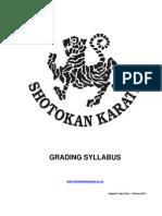 Shotokan Karate Grading Syllabus