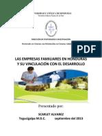 Las Empresas Familiares en Honduras y Su Vinculacion Con El Desarrollo