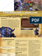 Mage Wars - Forcemaster vs Warlord Rulebook