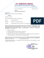 Surat Permohonan Dukungan Pabrik