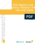 2012 Metrics and Analytics_Patterns of Use and Value