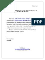 FORMULAR 8-Declaratie Conditii de Munca Si Protectia Muncii
