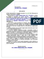 Formular 4-Neincadrare in Sit de La Artic 181