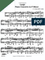J S Bach Largo from the Piano Concerto in F Minor BWV 1056, Piano Solo