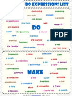 Make and Do Expressions List Classroom Poster Worksheet