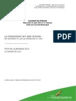 Dossier de Presse Définitif Fete Festival Et Fete de La Musique