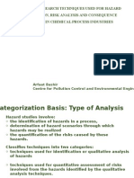 Accident analysis and forecasting techniques in Chemical process industries