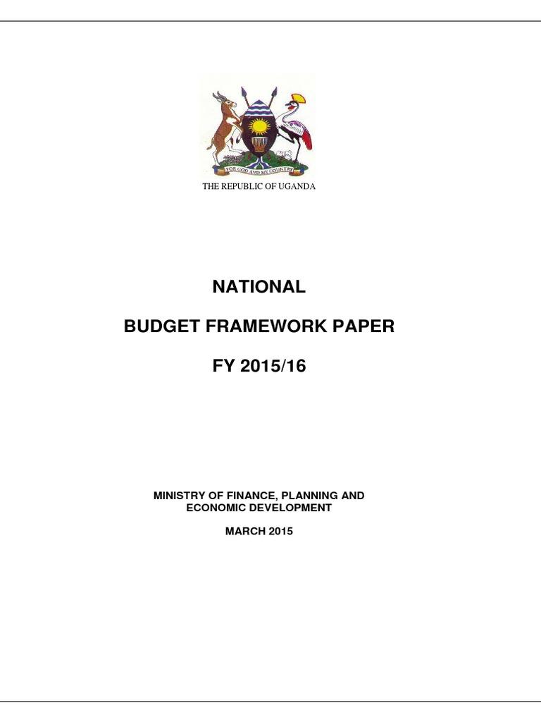 national budget framework paper fy 2015 16 government budget