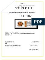 Project in c++(Banking Management System)